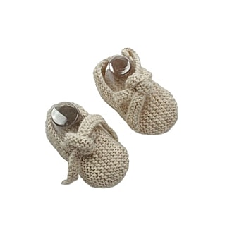 GET KNOTTED 'Alpaca' Baby Booties - Cloud