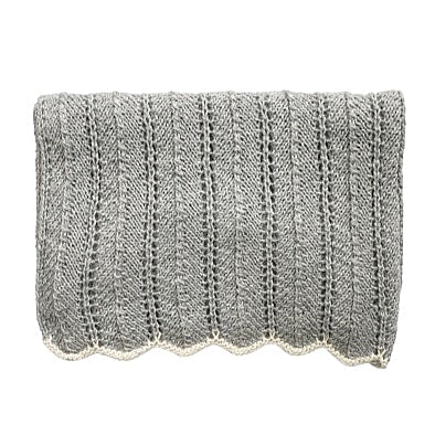 HEIRLOOM 'Alpaca' Blanket - Silver
