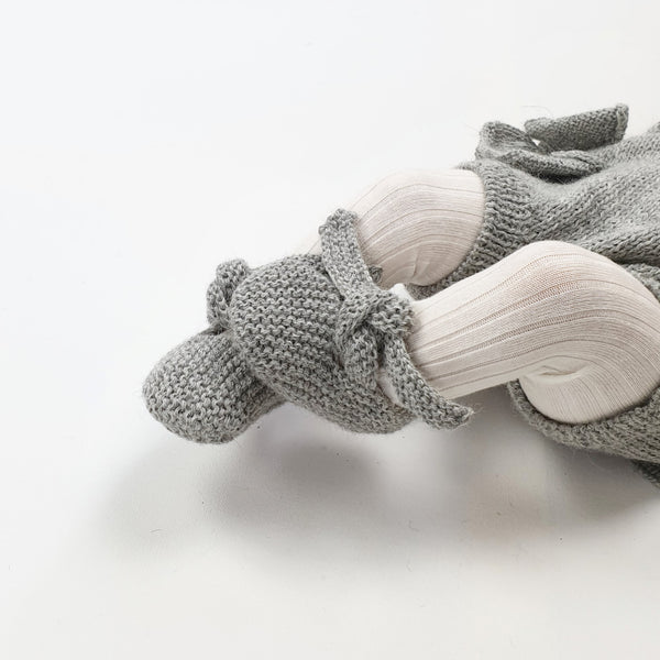 GET KNOTTED 'Alpaca' Baby Booties - Silver