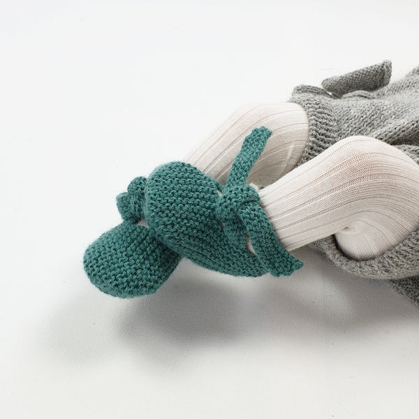 GET KNOTTED 'Alpaca' Baby Booties - Emerald