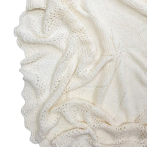 HEIRLOOM Baby Shawl - Off White