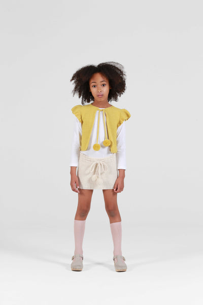 ARABELLA 'Alpaca' Vest - Acid Yellow