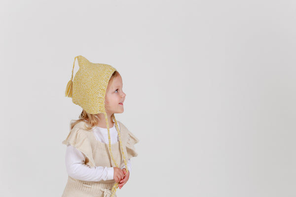 MAXIMUS 'Alpaca' Pixie Hat - Acid Yellow & Cloud
