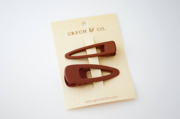 GRECH & CO Matte Clips Set of 2 - Rust