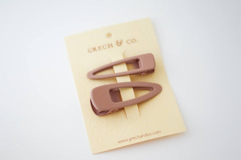 GRECH & CO Matte Clips Set of 2 - Shell