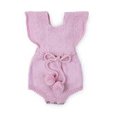 MARGOT Frilled 'Alpaca' Romper - Candy Pink