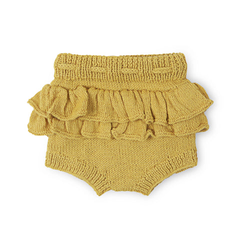 THEODORA Frilled 'Alpaca' Bloomer - Acid Yellow