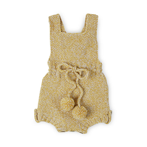 MARLOW 'Alpaca' Romper - Acid Yellow & Cloud