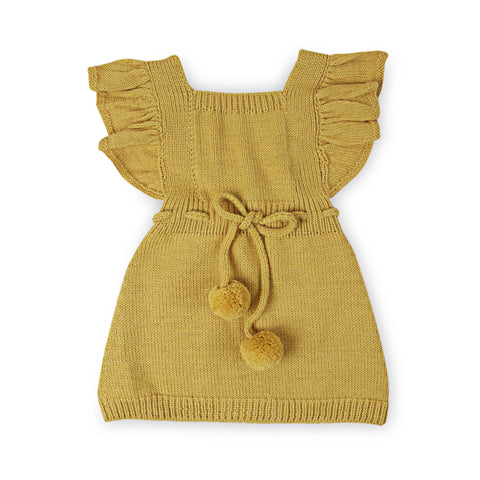 ANOUK Frilled 'Alpaca' Pinafore- Acid Yellow