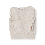 MIA Frilled 'Alpaca' Vest - Cloud
