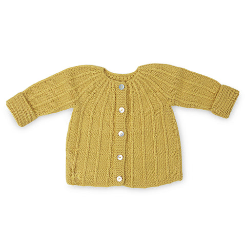 PHILIPPA 'Alpaca' Cardigan - Acid Yellow