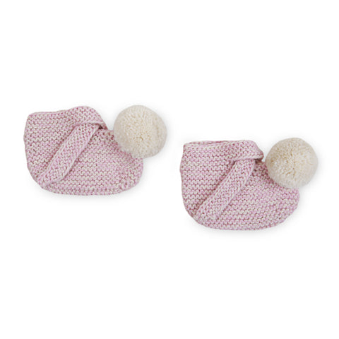 ARLO 'Alpaca' Baby Booties - Candy Pink & Cloud Pom