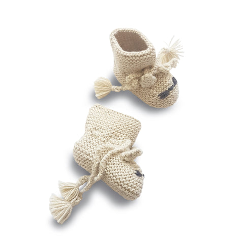 TOM CAT 'Alpaca' Baby Booties - Cloud