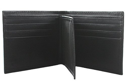 Slim Fit Men's Leather Wallet - BLK