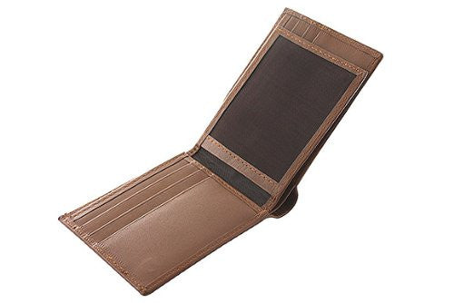 Slim Fit Men's Leather Wallet -TAN
