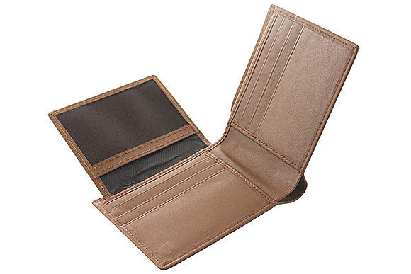 Biflod Men's Leather Wallet -TAN