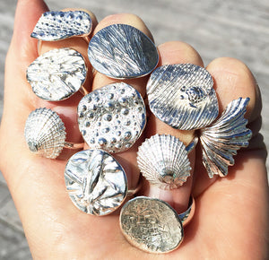 Collection of Coastalstyle Australia Pure silver rings