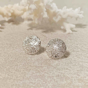 Sea Star Pure Silver Stud Earrings front