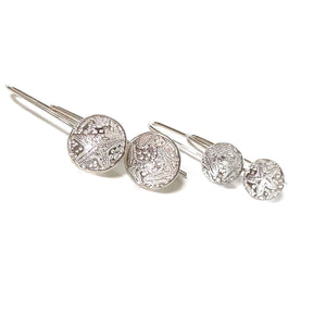 Shimmering Rock Pools Silver Earrings