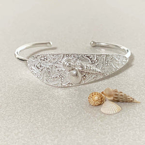 Sea Stars and Shells Cuff Bracelet closeup