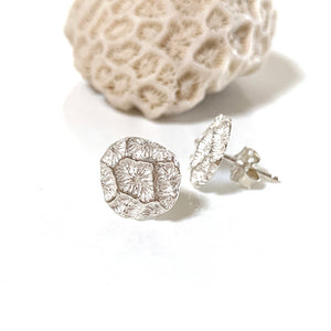 Ocean Coral Small Stud Earrings