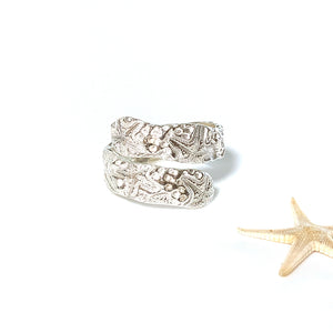 adjustable sea star ring front view