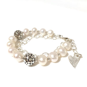 Gems of the Ocean Pearl & Silver Bracelet
