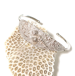 Sea Stars and Shells Cuff Bracelet