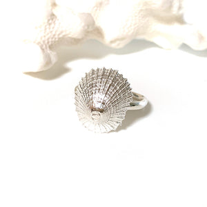 Pure Silver Ocean inspired Treasure Ring