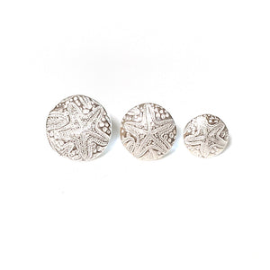 Sea Star Pure Silver Stud Earrings in all sizes