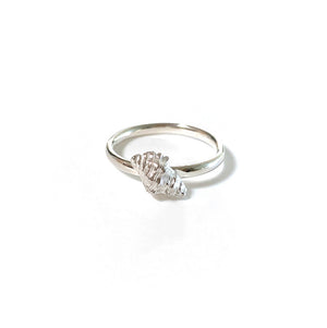 Silver Conch Shell Stacking Ring single