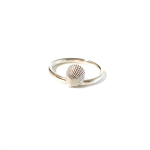 Silver Sea inspired Stacking Ring
