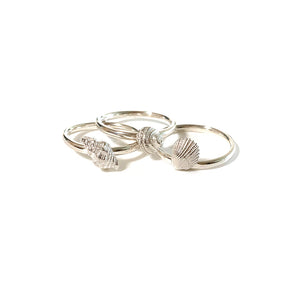 Silver Sea inspired Stacking Rings