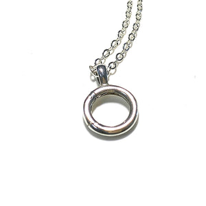 Interchangeable Charm holder with 2.2mm Chain option closeup