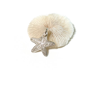 Sea Star Ocean inspired pure silver charm front