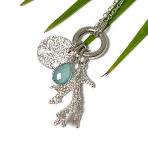 Sea Star Circle Charm on chain
