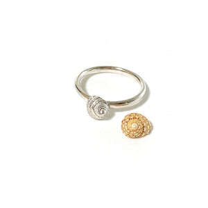 Mini Spiral shell Stacking ring