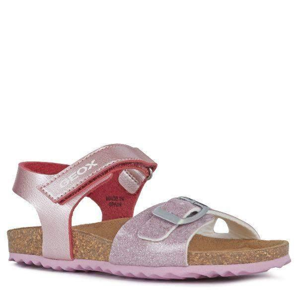 Geox ADRIEL J028MC Kids Girls Dress Sandals (Made in Spain)