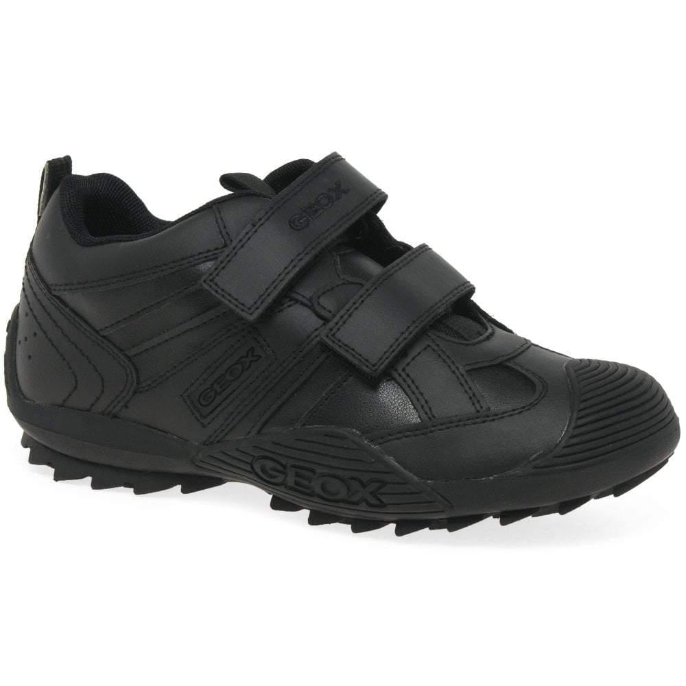Geox Savage Leather Boys Uniform Shoes
