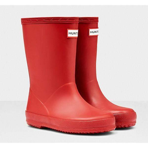 Hunter Kids First Classic Military Red Rain Boots - ShoeKid.ca