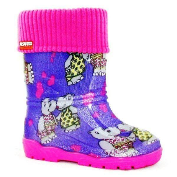 Alisa Kids Rainboot Hippo with Removable Insulation (Made in Europe)-5C