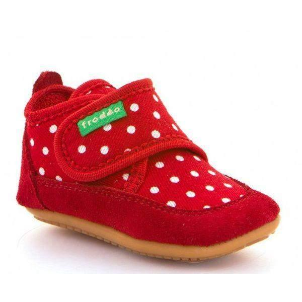Froddo G1170001 Girls Toddler Red First Walker Shoes - ShoeKid.ca