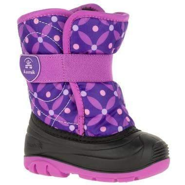 Kamik Girl's Snowbug4 Toddler Snow Boots - 23C