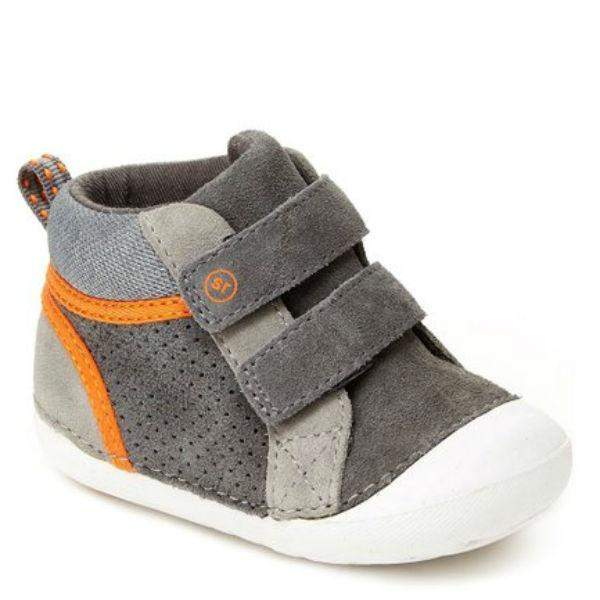 Stride Rite Milo Gray Leather Suede - ShoeKid Canada