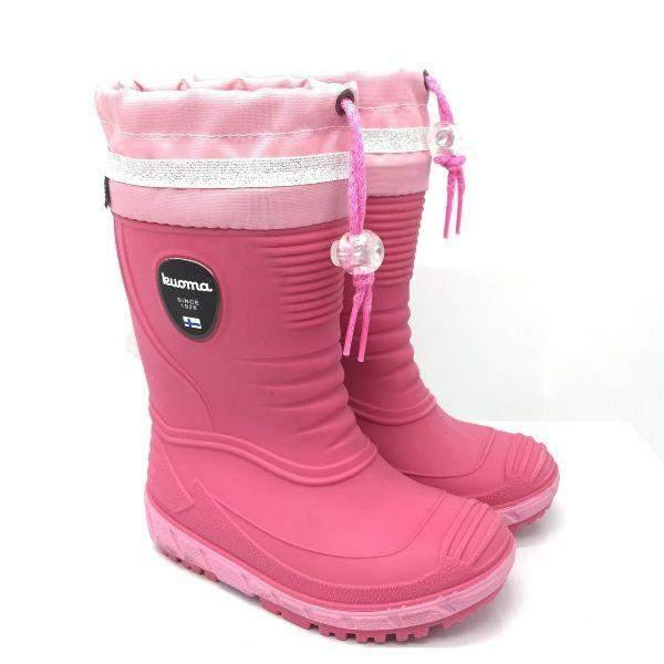 KUOMA VIHMA Girls Fur Lined Rain Boots (Made in Italy) -5C Rated
