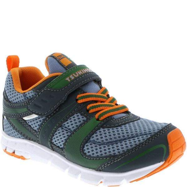 Boys Running Shoes - Tsukihoshi Velocity Charcoal Sea / Toddler / Little Kids