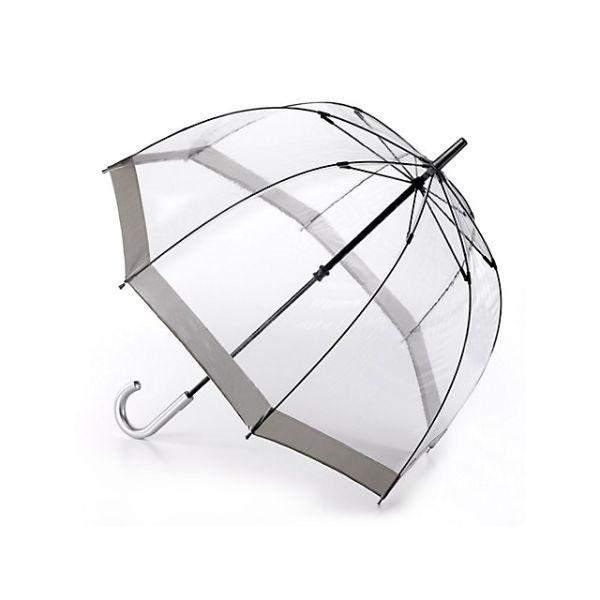 Fulton Clear Dome Kids Umbrella Silver