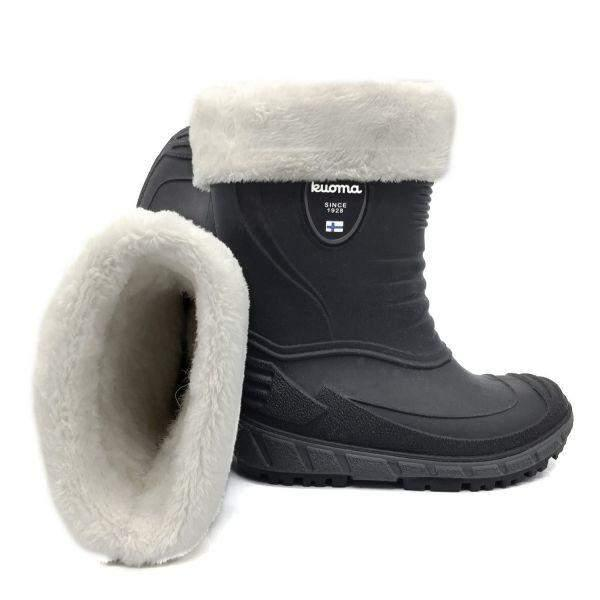KUOMA TIHKU Unisex Removable Fur Lined Rain Boots (Made in Italy)