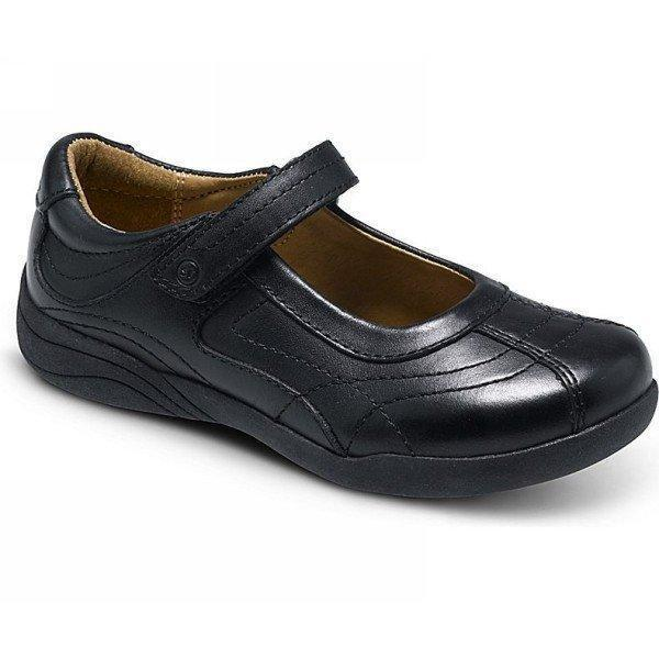 Stride Rite Claire Black Uniform Girls School Shoes