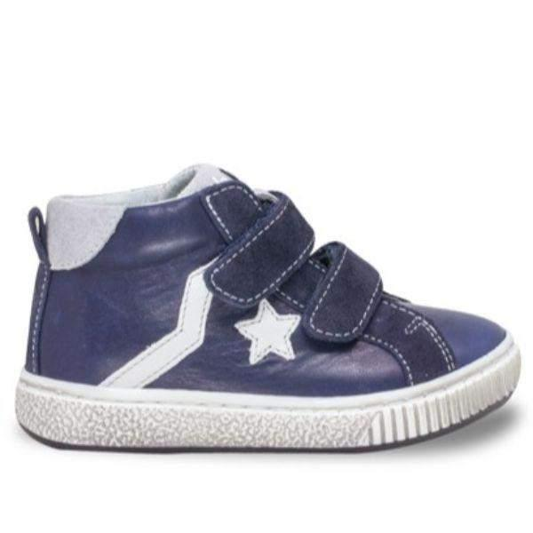 Balocchi 601713 Urban Blue Boys Leather Shoes ((Ankle/Arch Support)